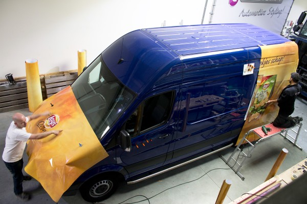 full colour wrap bestelbus