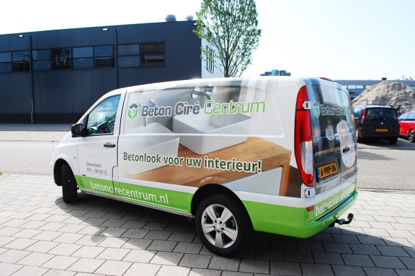 Full colour wrap beton cire centrum