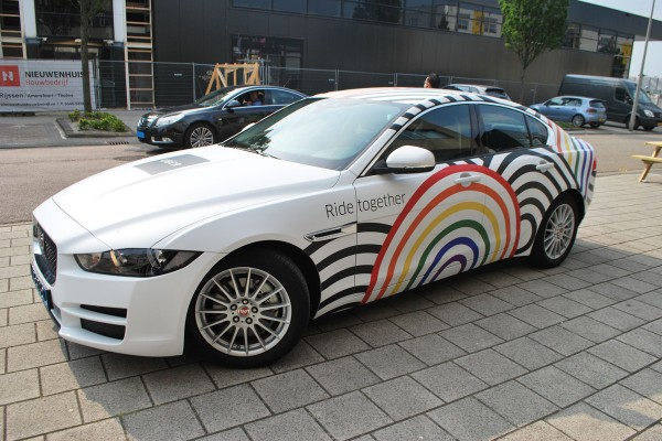 mat car wrap promotioneel