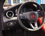 Carstyling Car Styling Mercedes C coupe Tinttotaal Hotrod Red Interieur wrap