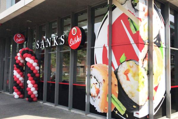 sanks sushi gevelreclame