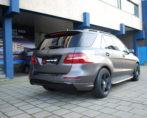 Mercedes SUV Carwrap Satijn grijs carwrap autowrap
