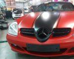 Mercedes SL carwrap autowrap two tone