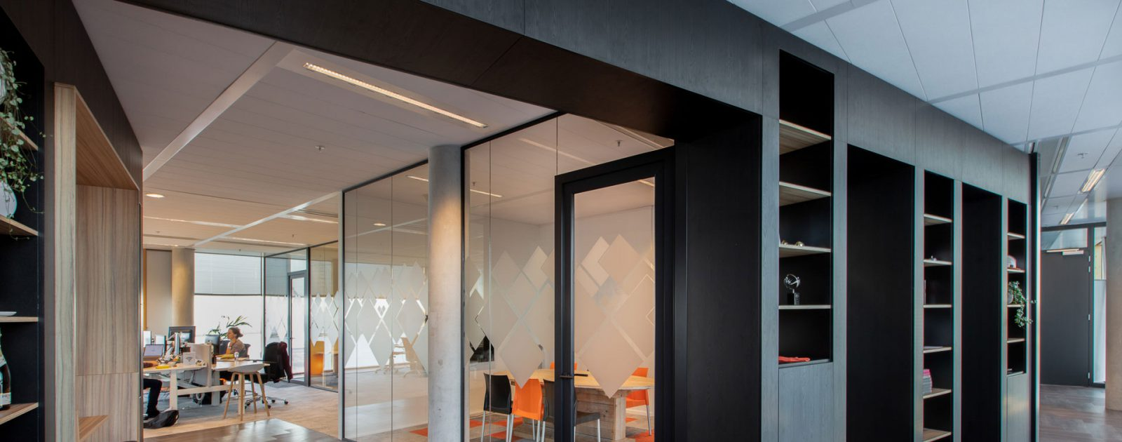 Interieur kantoor zandstraalfolie