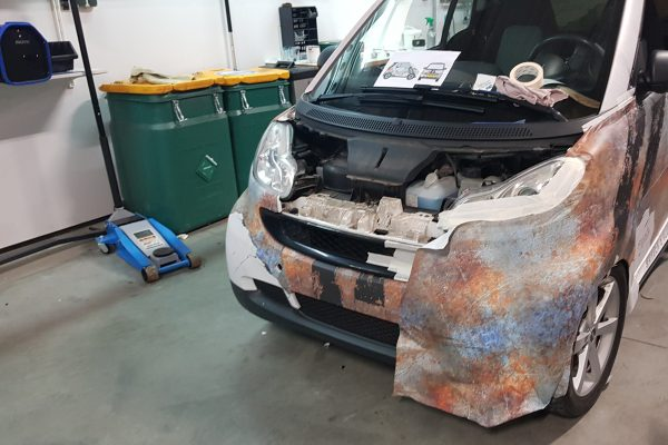 Smart Fortwo Rust Concrede Wrap