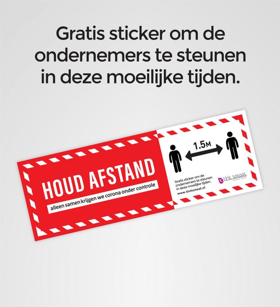 gratis preventie sticker