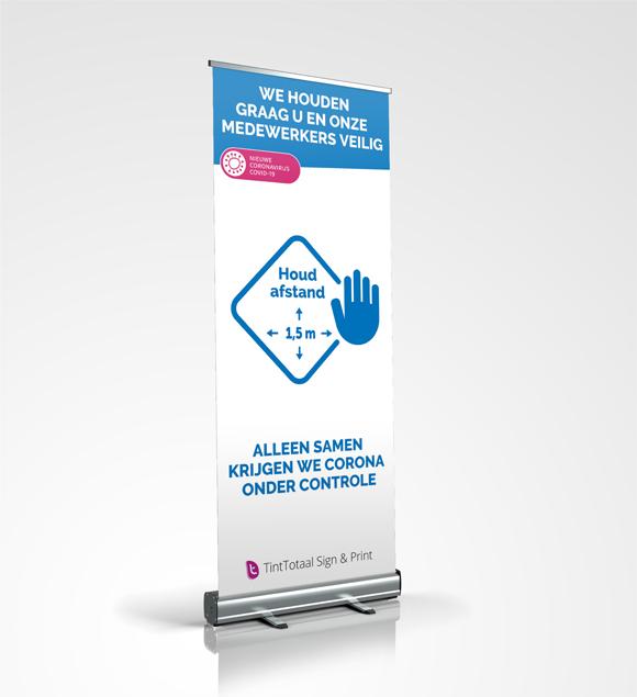 coronapreventie roll-up banner