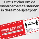 gratis corona preventie stickers