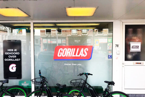 Gorillas gevelreclame
