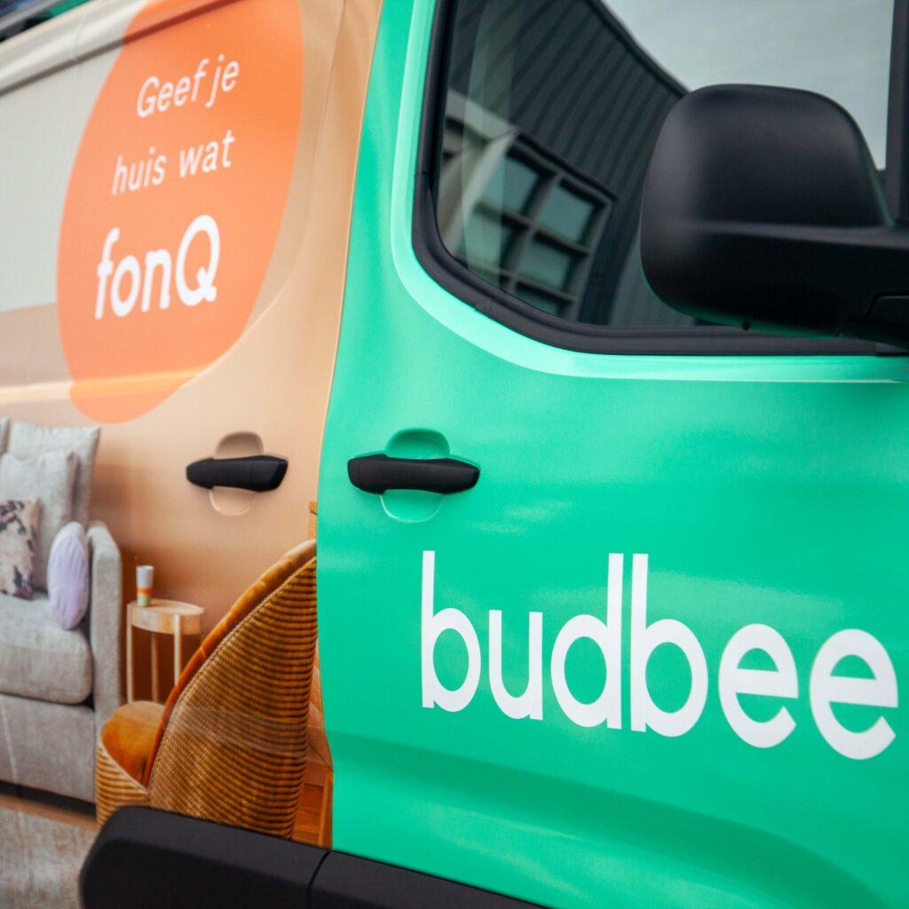 Full body reclame carwrap voor bestelbus Budbee 4